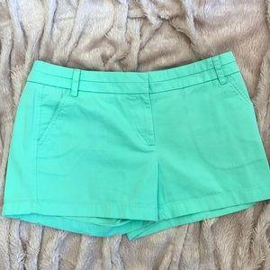 Perfect Pastel Green Chino Shorts by J. Crew